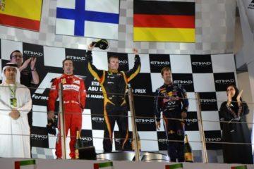 Raikkonen, Alonso e Vettel