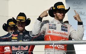 Hamilton, Vetter e Alonso - Il podio di Austin 2012