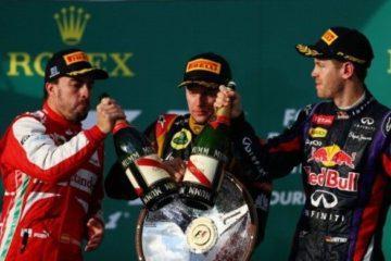 Alonso, Raikkonen e Vettel