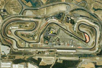 Vista dall'alto del circuito del Montmelò. Quest'anno il Motomondiale tornerà ad usare il layout originario, abbandonando quello usato abitualmente dalla Formula 1 (foto da: twitter.com)