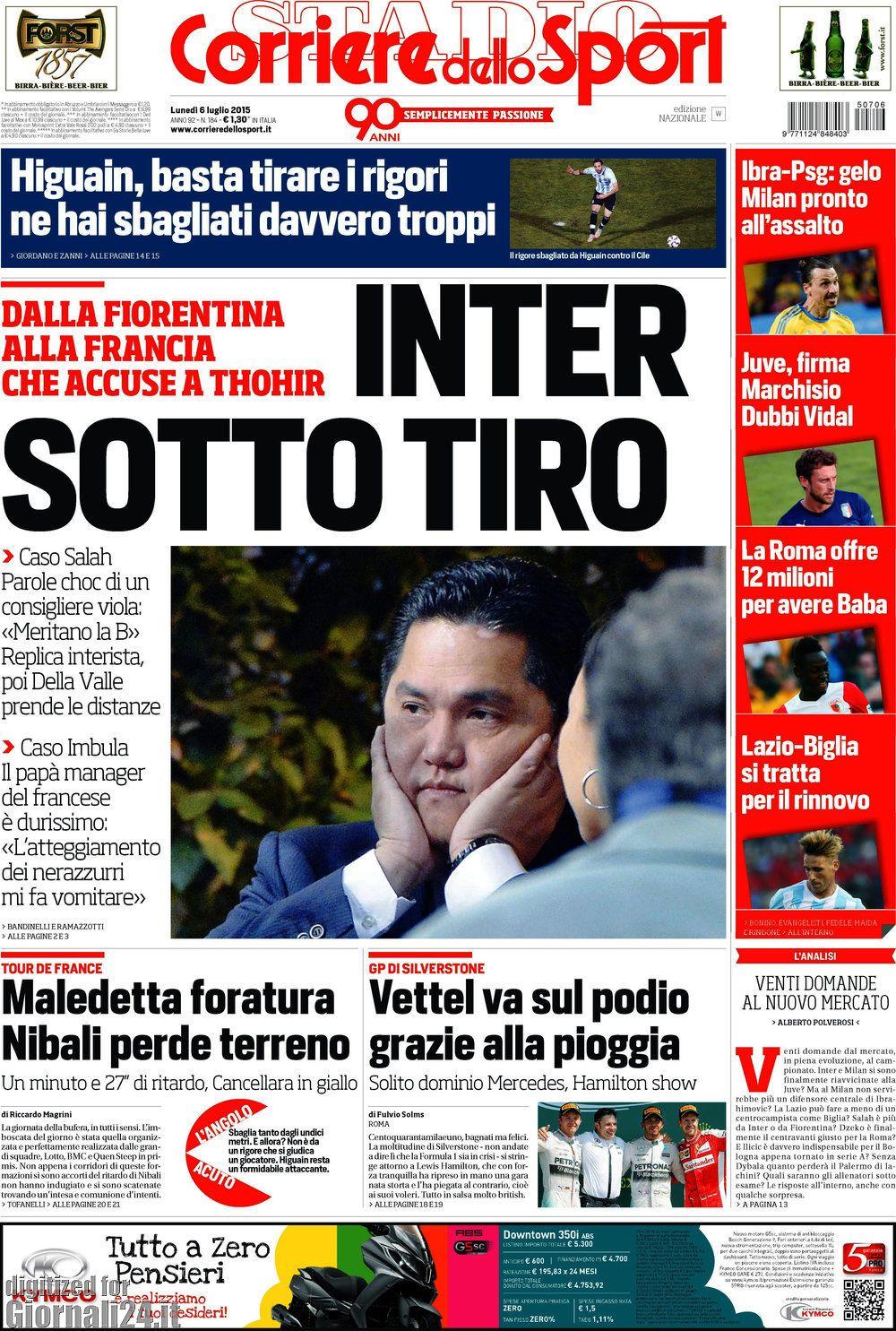 Corriere dello Sport 06-07-2015