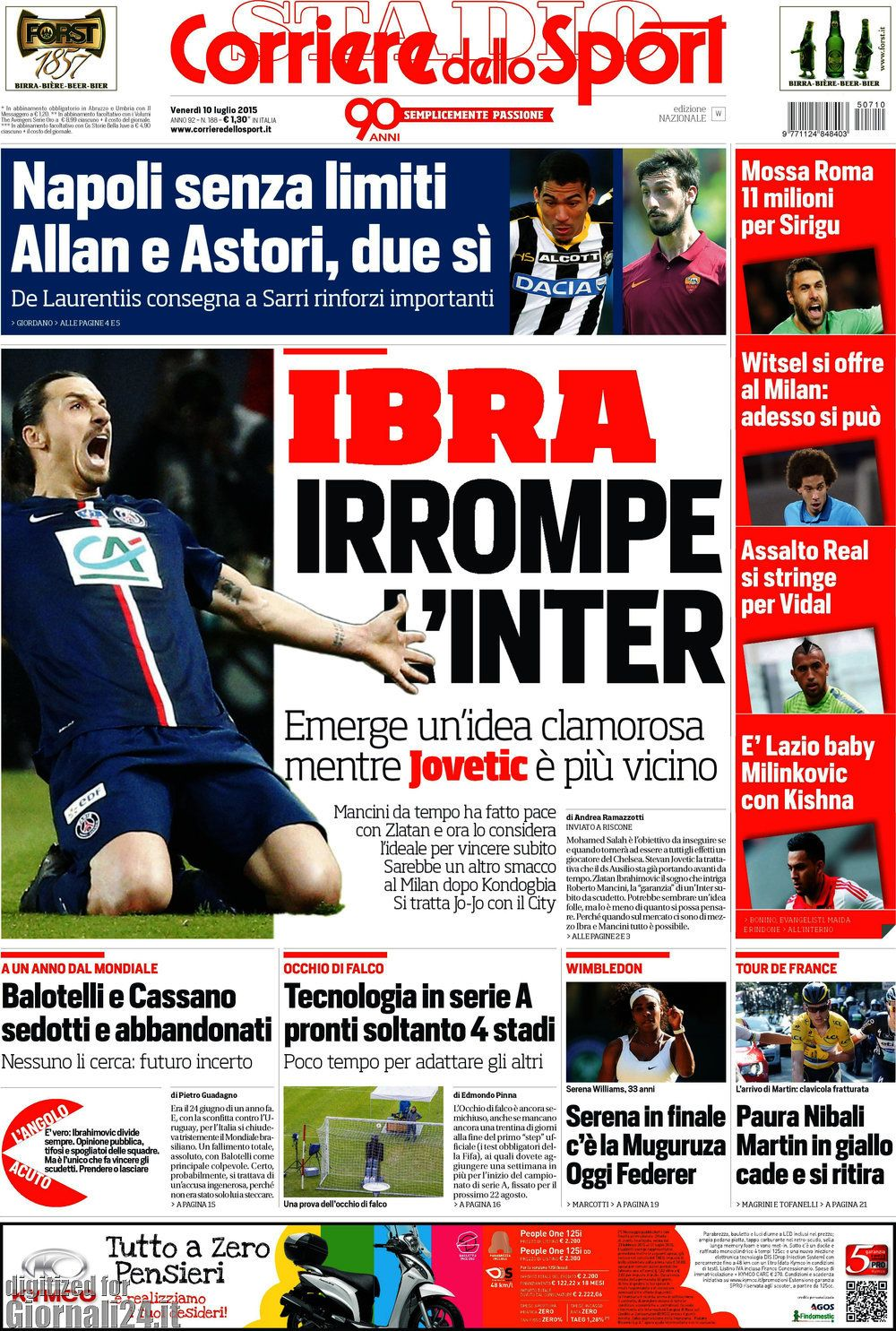 Corriere dello Sport 10-07-2015
