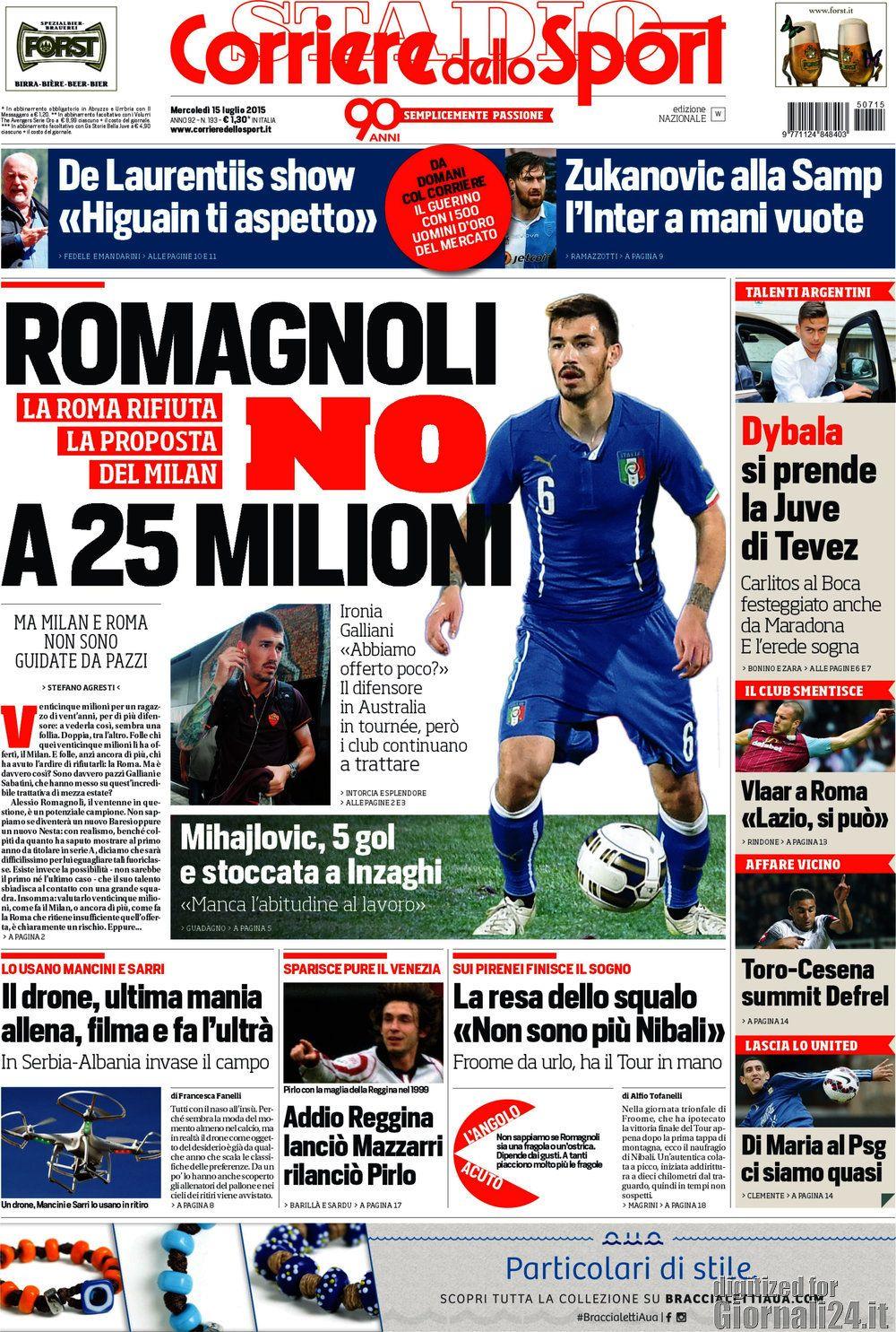 Corriere dello Sport 15-07-2015