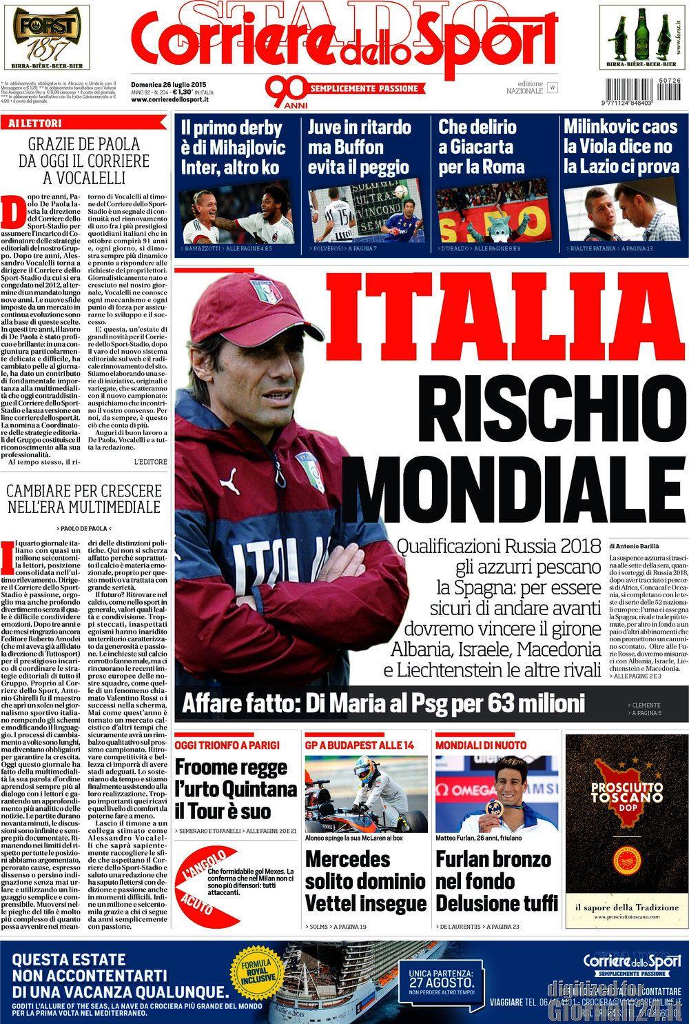 Corriere dello Sport 26-07-2015