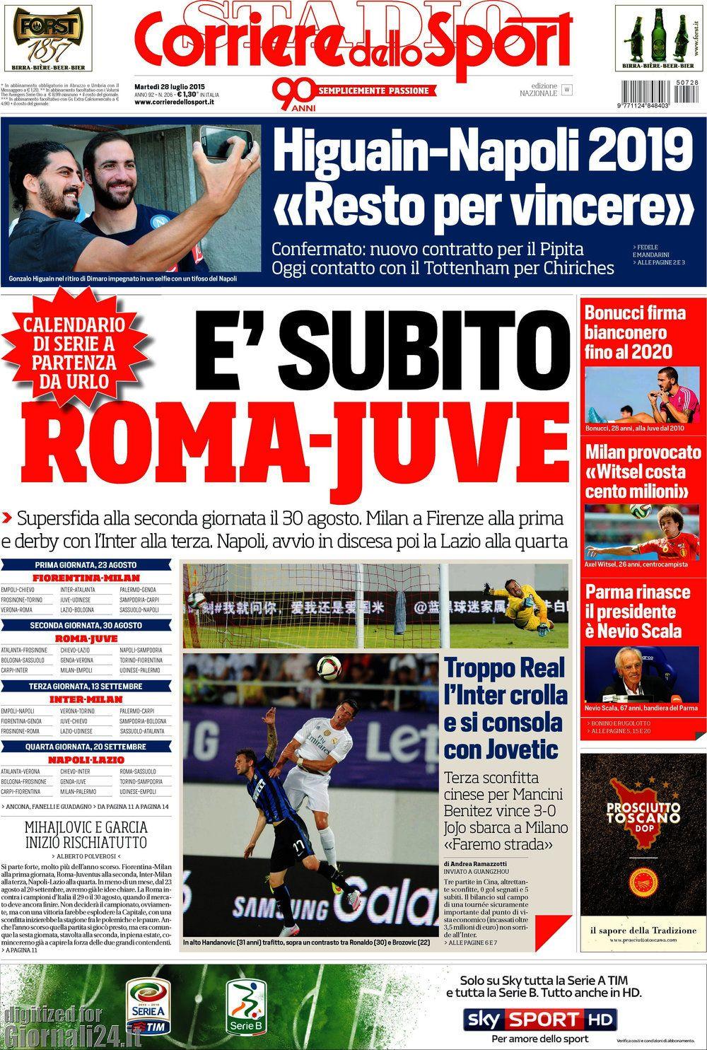 Corriere dello Sport 28-07-2015