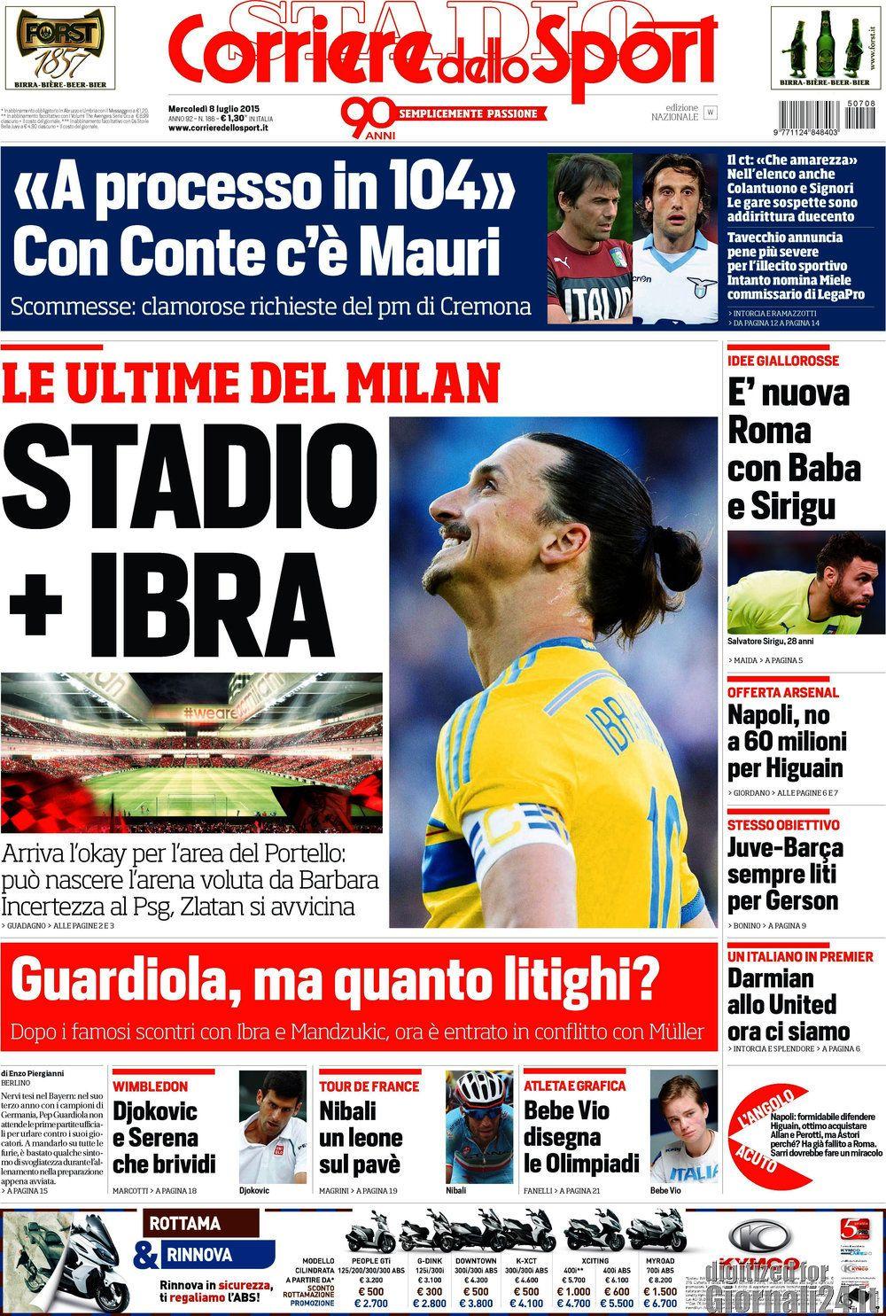 Corriere dello Sport 8-07-2015