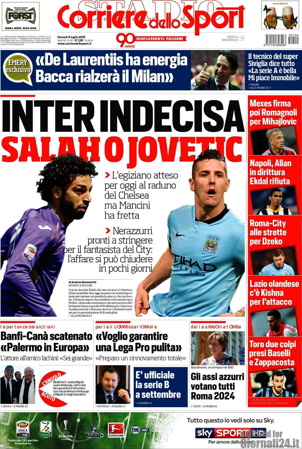 Corriere dello Sport 9-07-2015