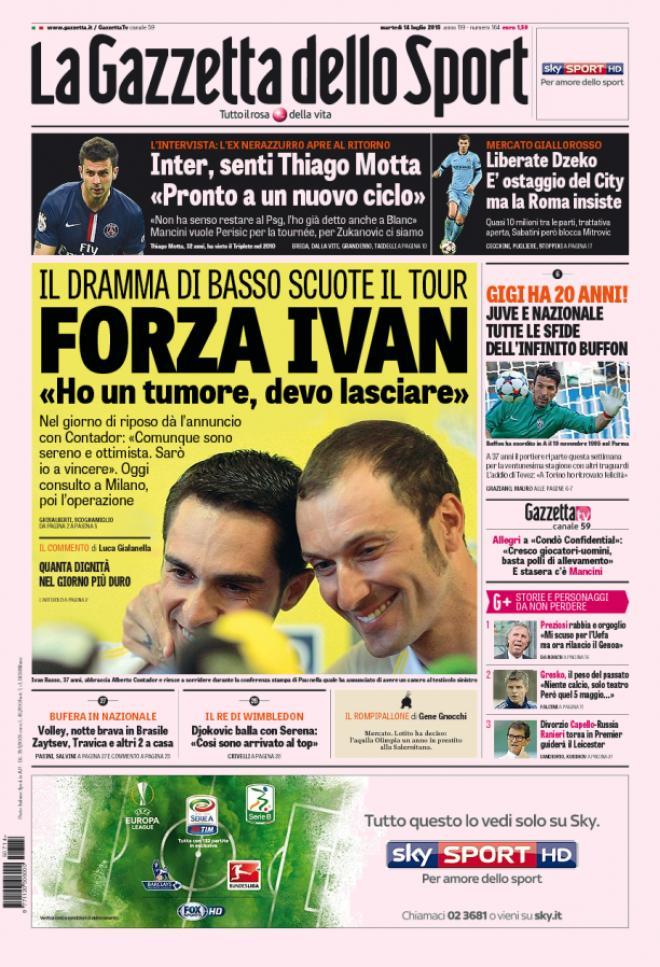 Gazzetta delllo Sport 14-07-2015