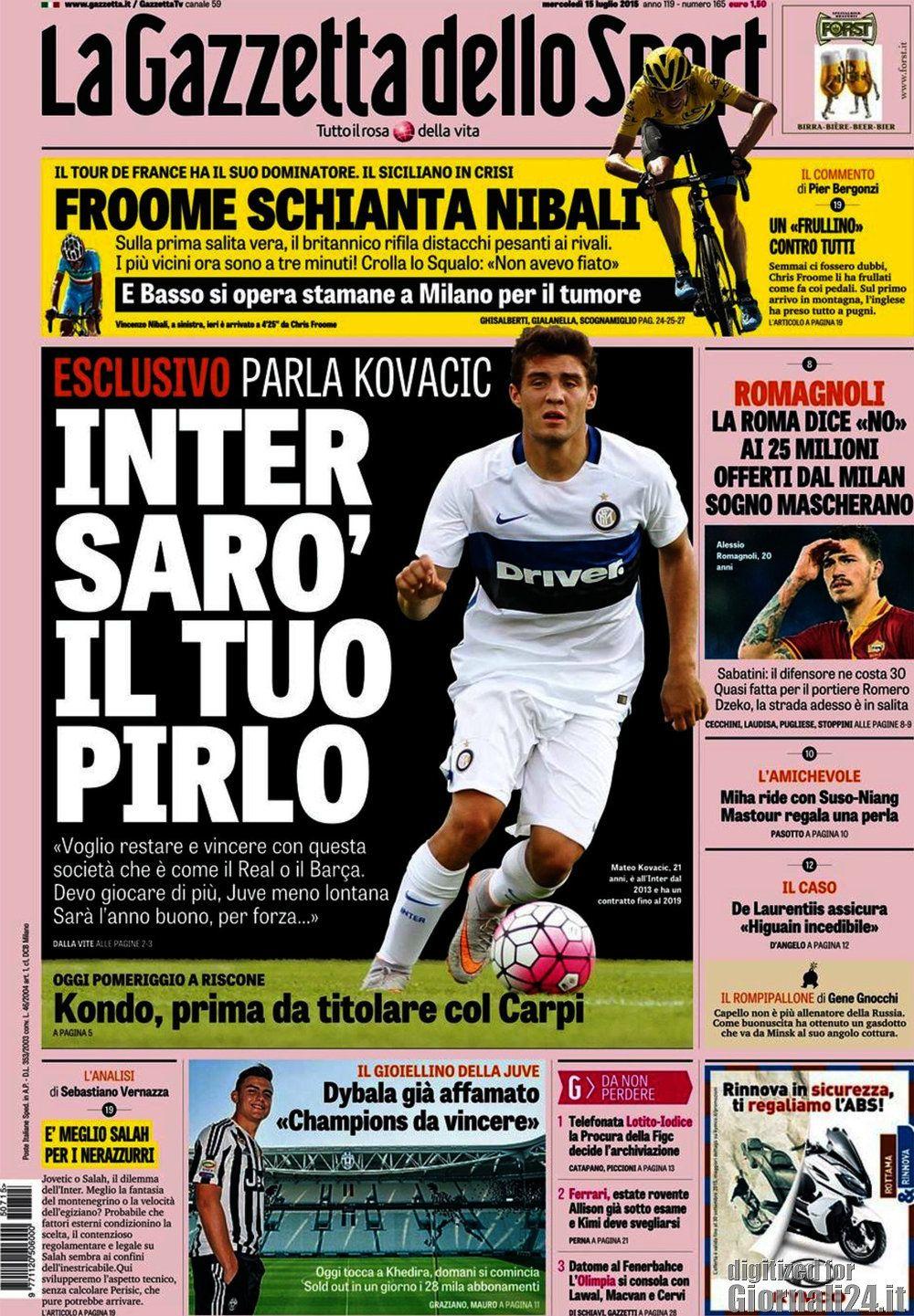 Gazzetta dello Sport 15-07-2015