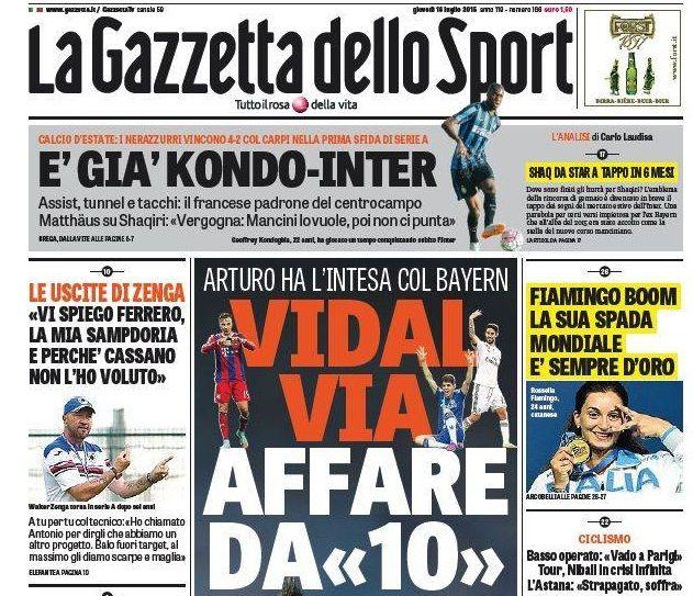 Gazzetta dello Sport 16-07-2015