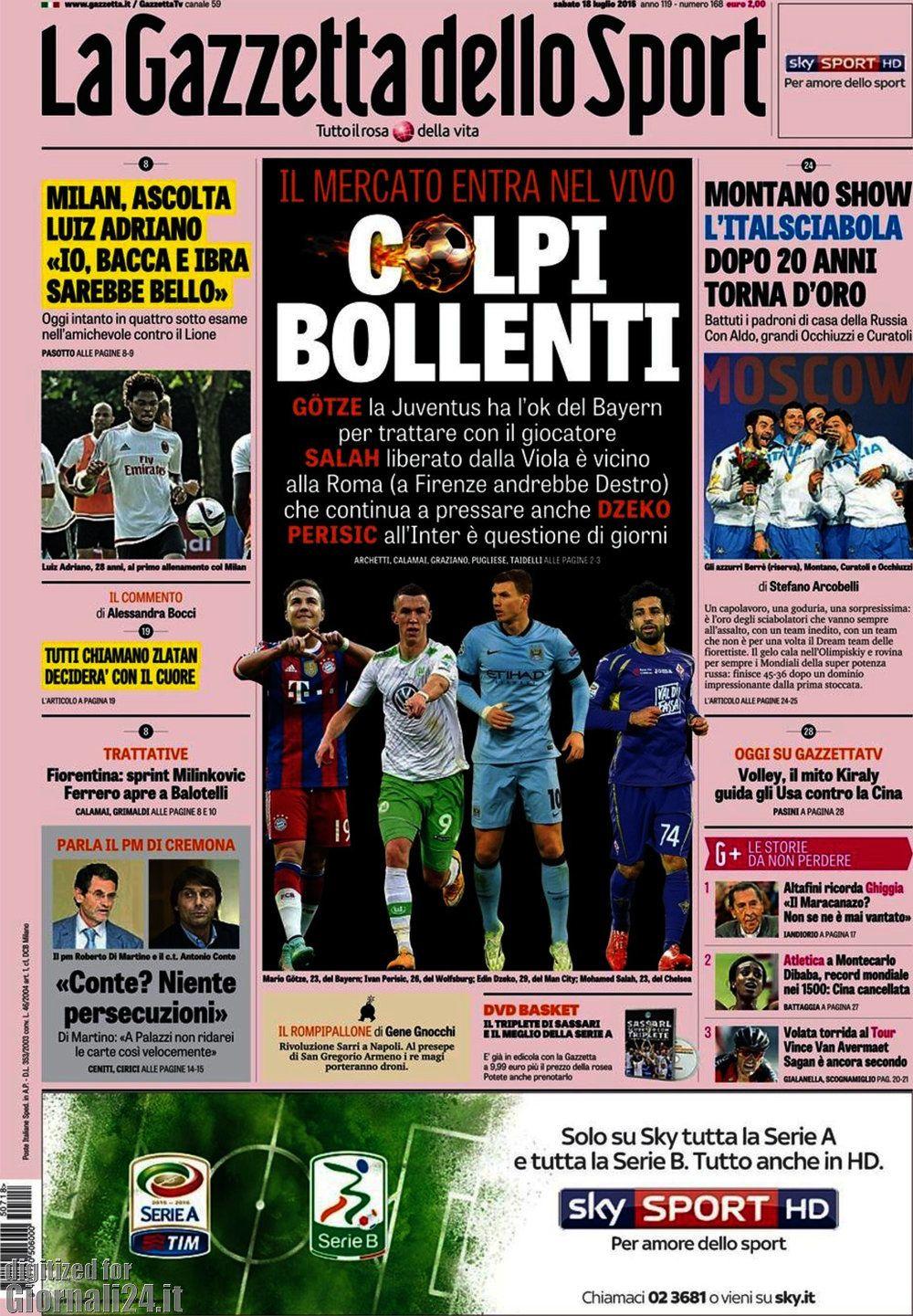 Gazzetta dello Sport 18-07-2015
