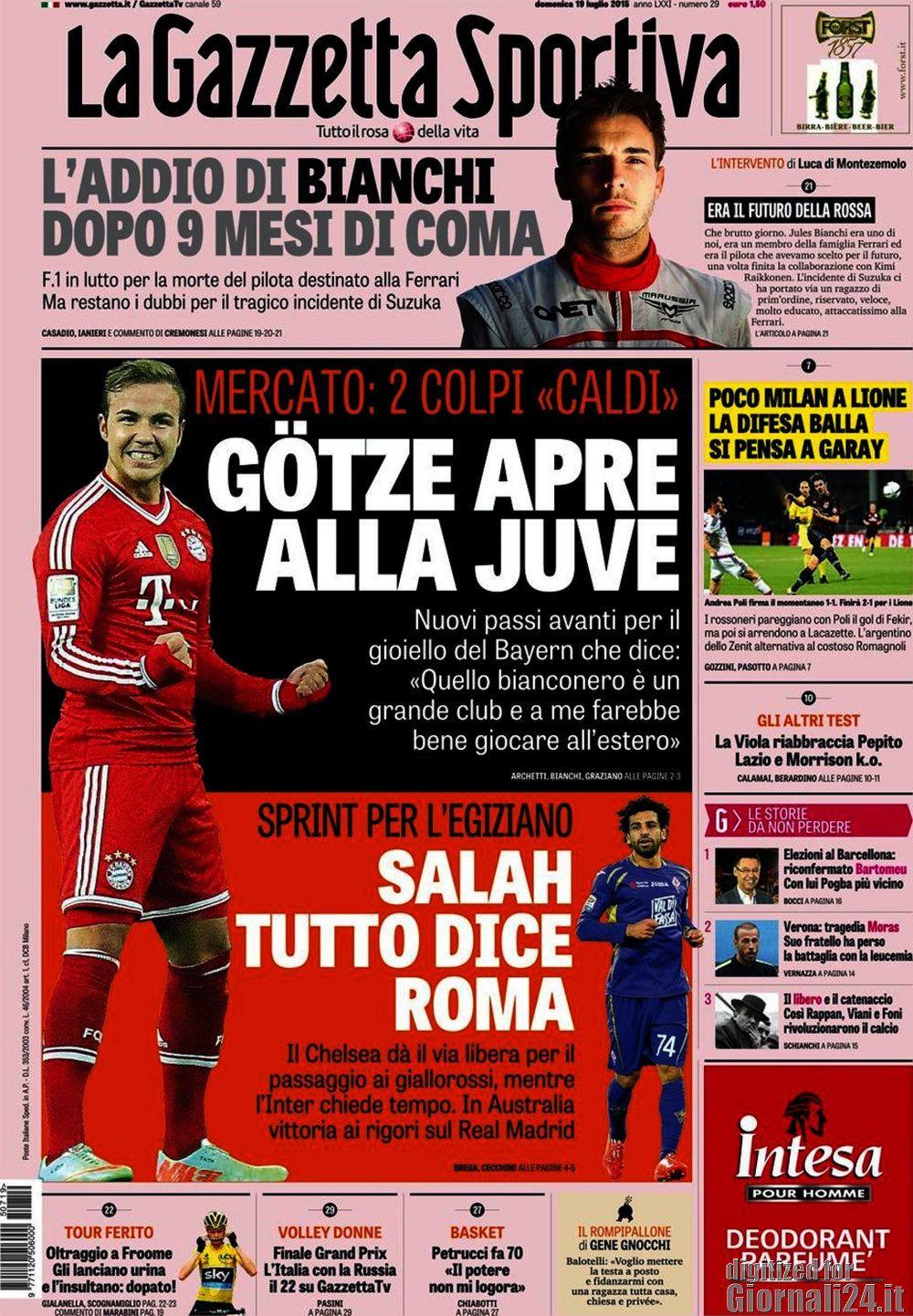 Gazzetta dello Sport 19-07-2015
