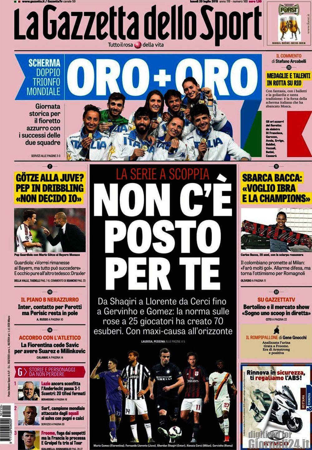 Gazzetta dello Sport 20-07-2015