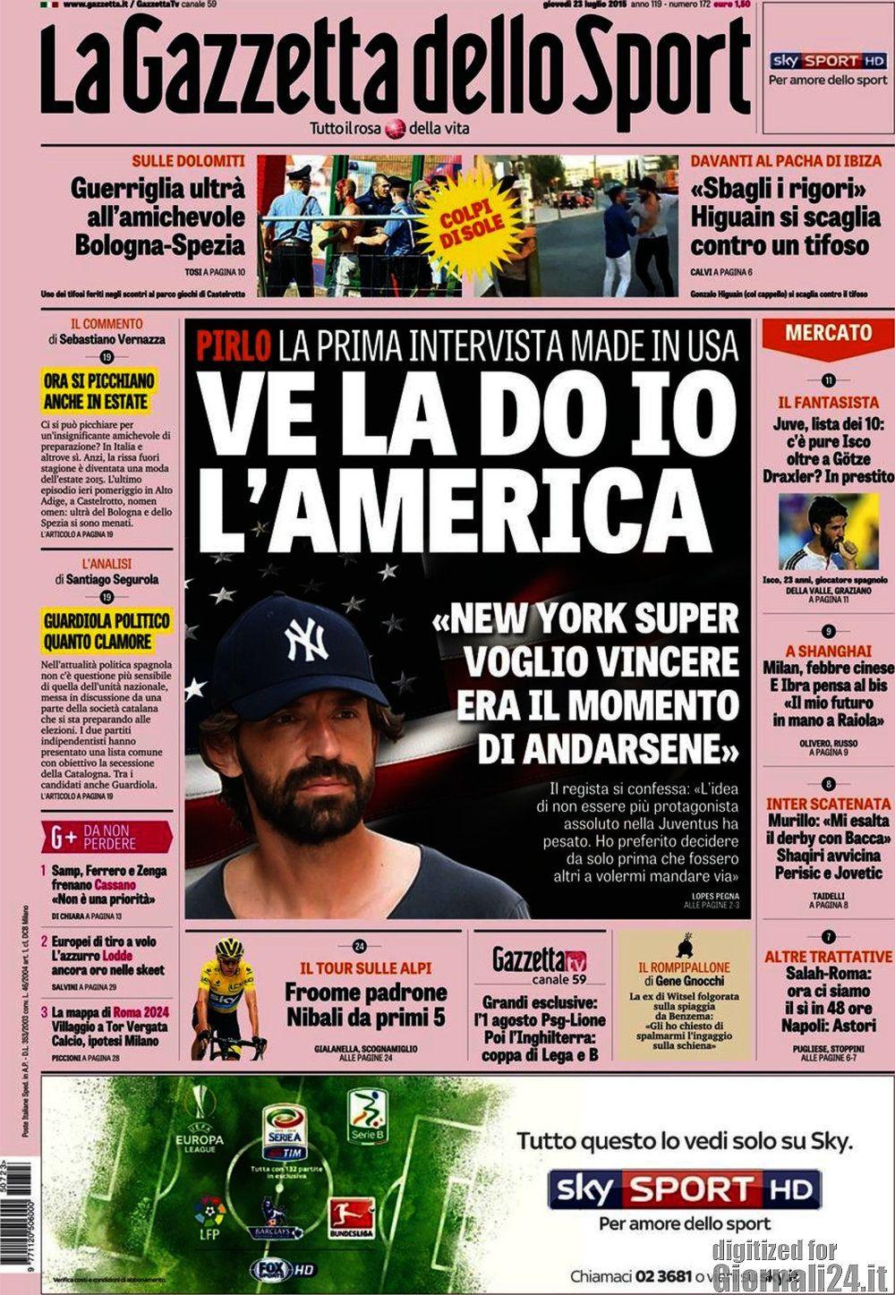 Gazzetta dello Sport 23-07-2015