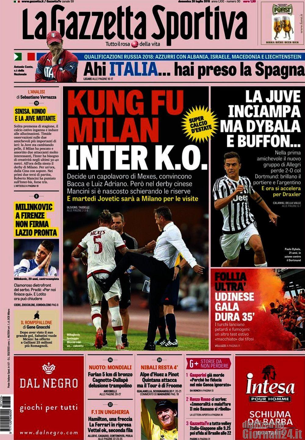 Gazzetta dello Sport 26-07-2015