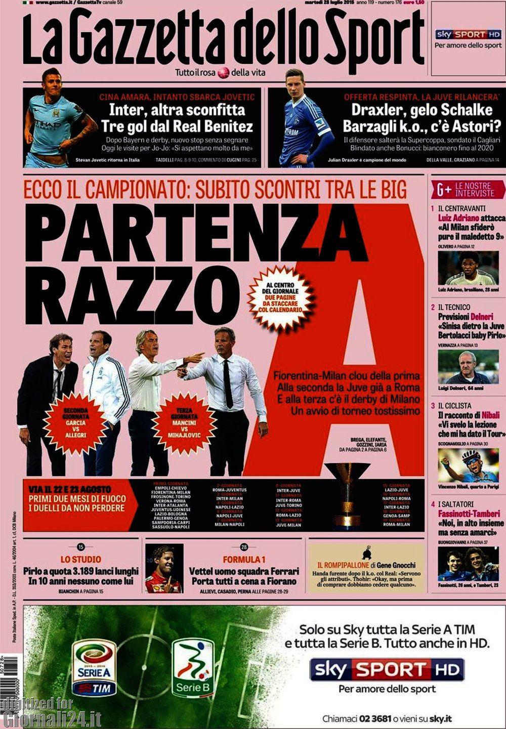 Gazzetta dello Sport 28-07-2015
