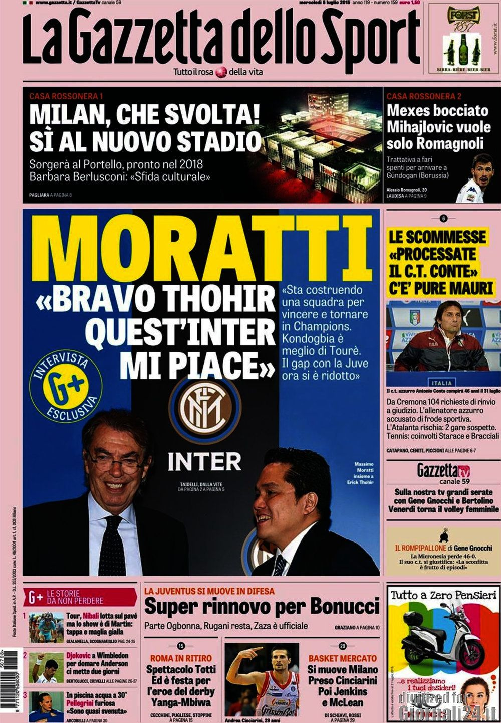 Gazzetta dello Sport 8-07-2015