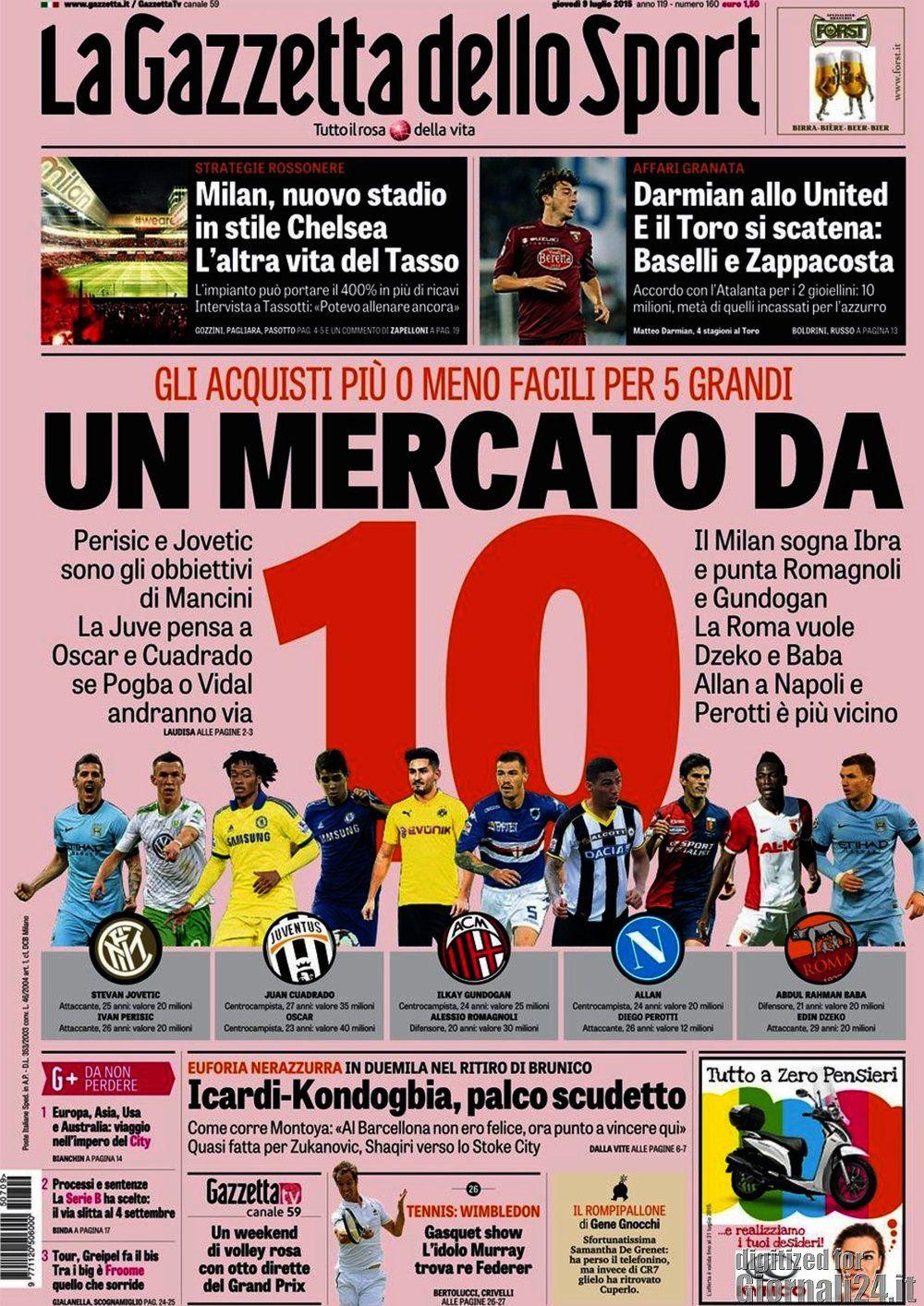 Gazzetta dello Sport 9-07-2015