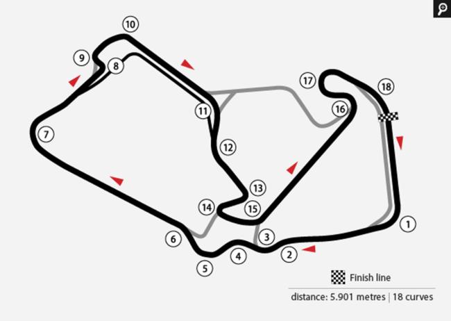 Mappa Silverstone