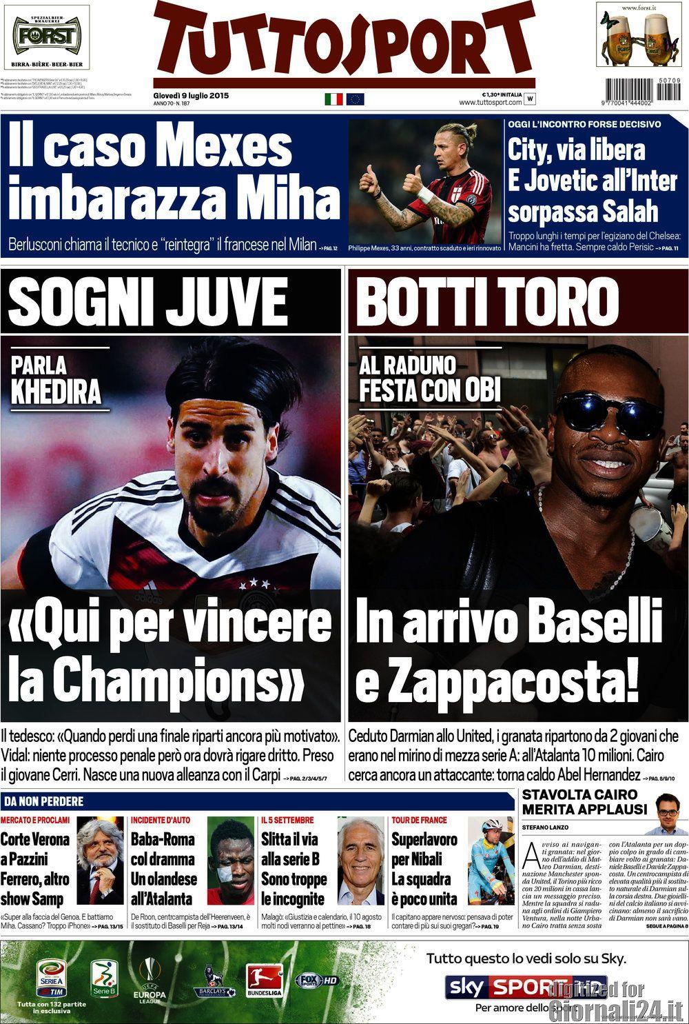 Tuttosport 9-07-2015