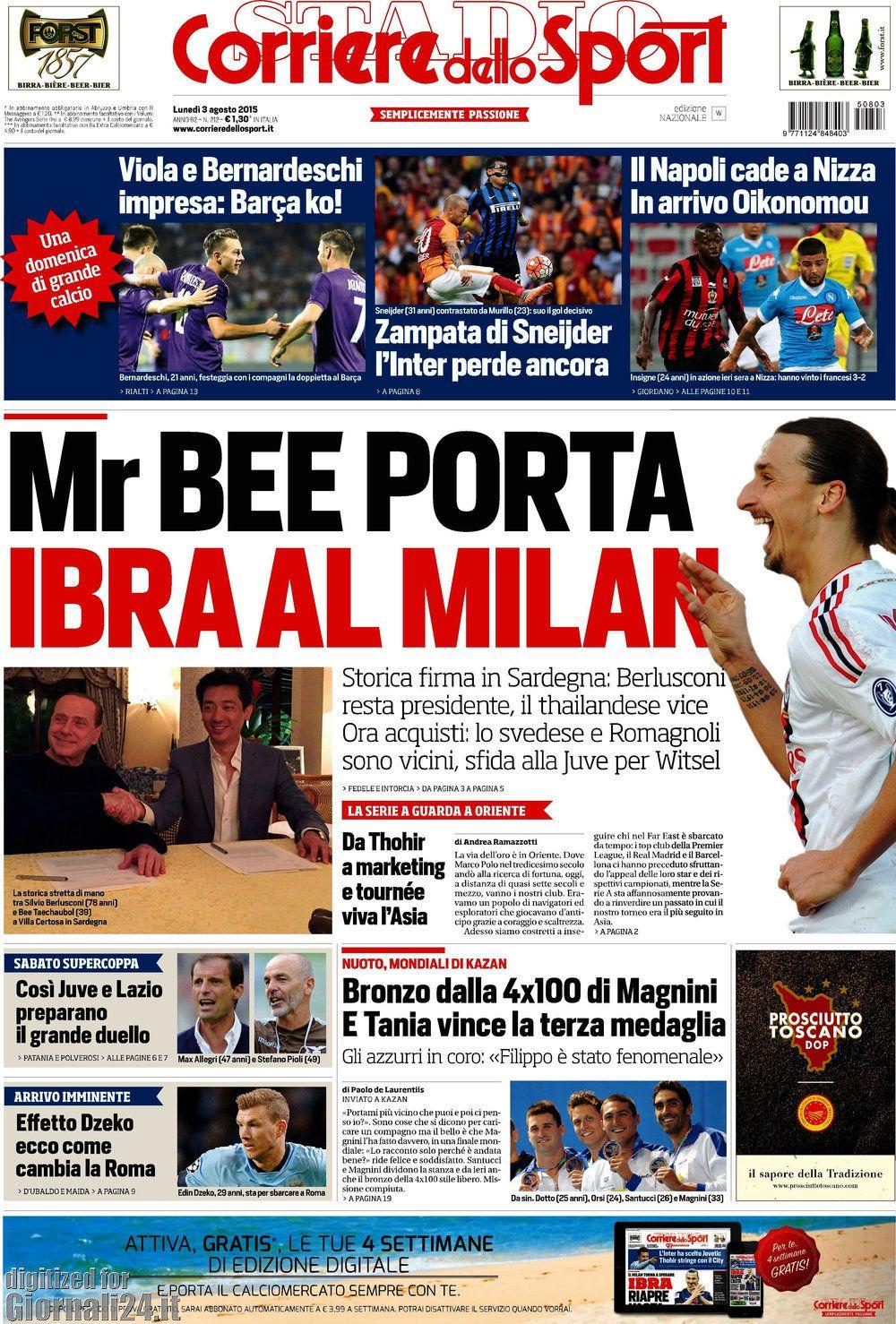 Corriere dello Sport 03-08-2015