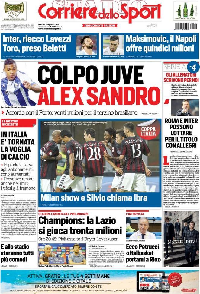 Corriere dello Sport 18-08-2015