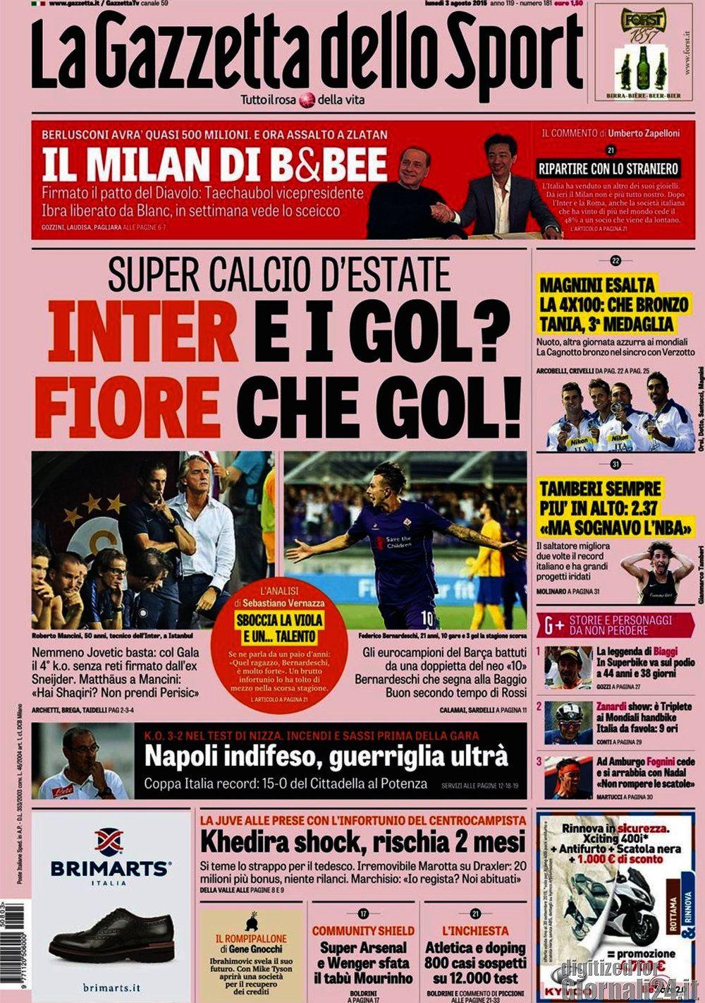 Gazzetta dello Sport 03-08-2015