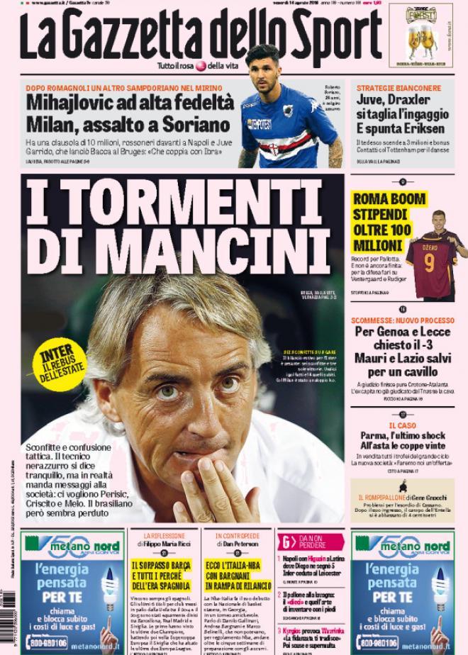Gazzetta dello Sport 14-08-2015