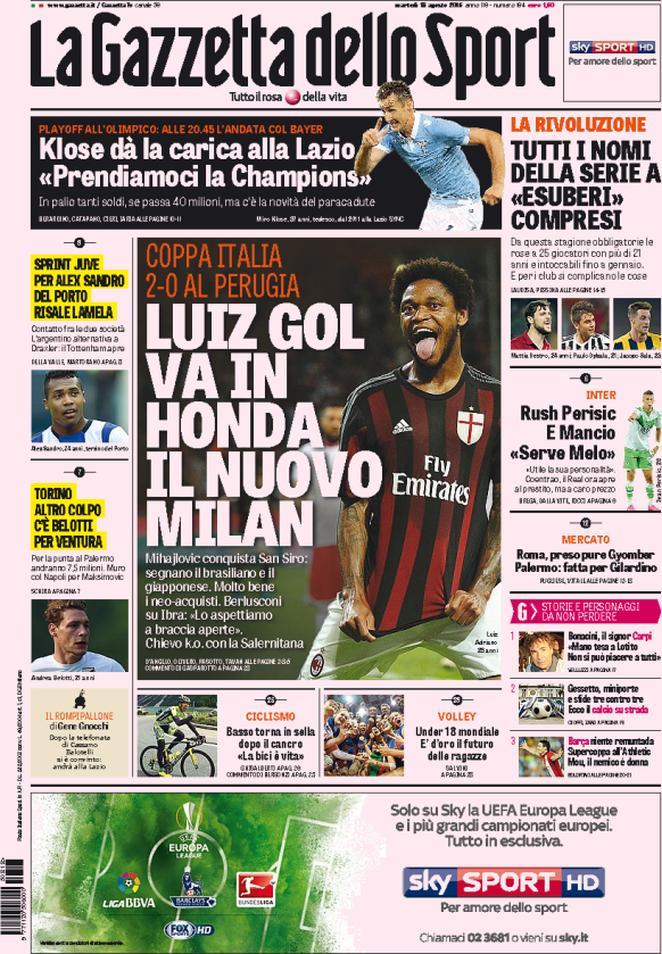 Gazzetta dello Sport 18-08-2015