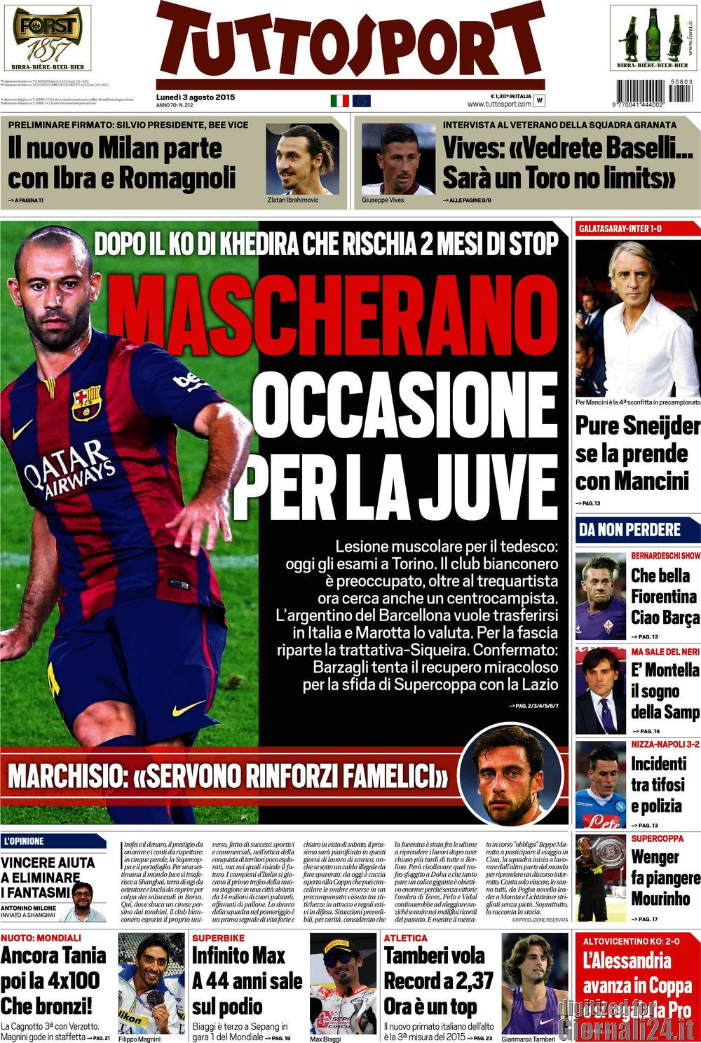 Tuttosport 03-08-2015