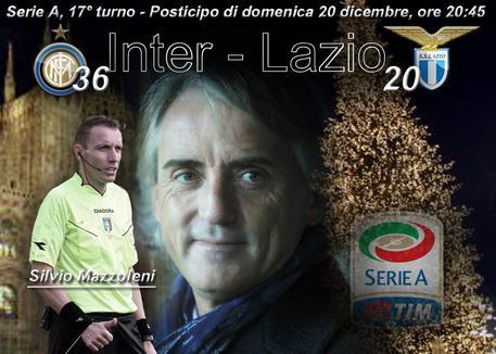 Inter-Lazio posticipo della 17ma di A