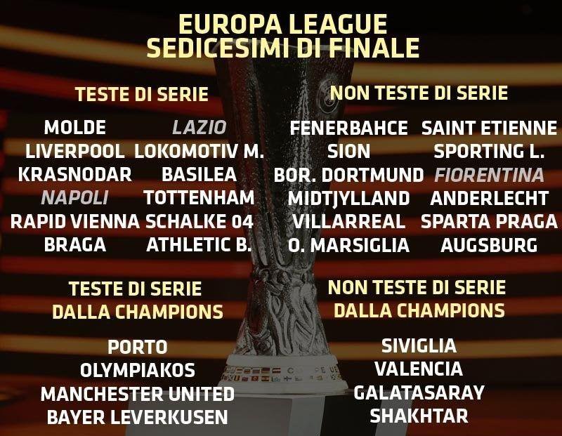 sorteggio sedicesimi europa league