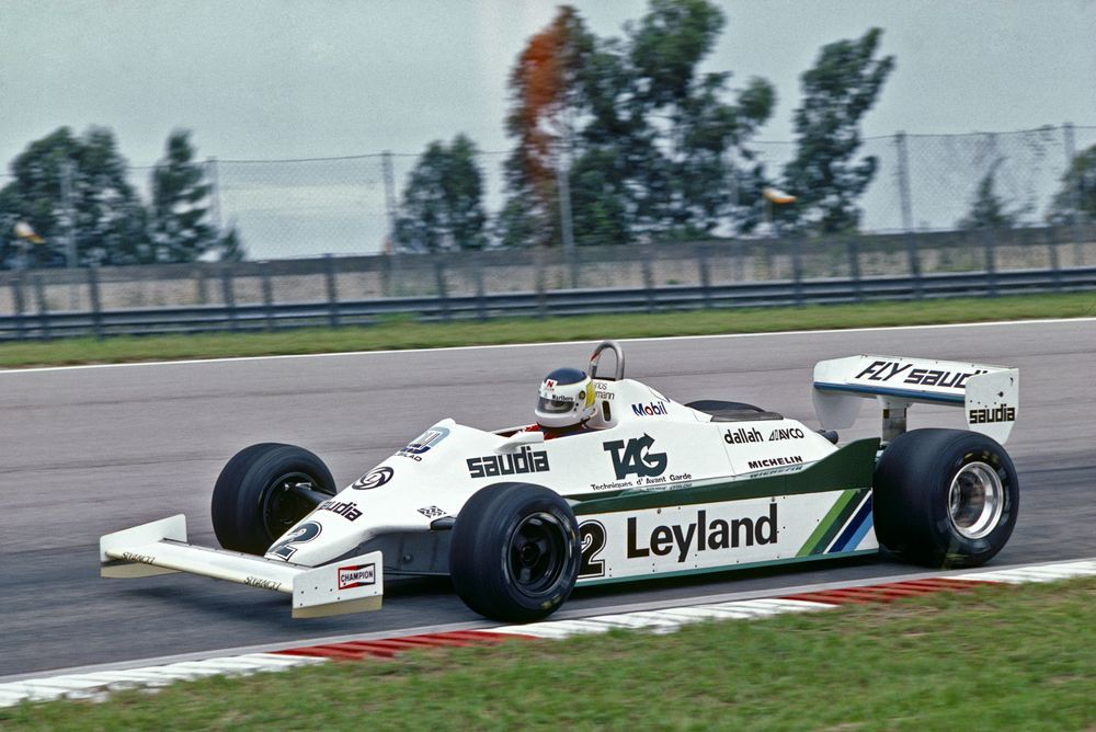 Rio de Janeiro, Brazil, 27th - 29th March 1981, RD2. Carlos Reutemann on track in the Williams FW07C-Ford. Action. Photo: LAT Photographic/Williams F1. Ref: 1981williams04