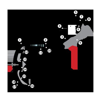 mappa circuito Monaco Montecarlo
