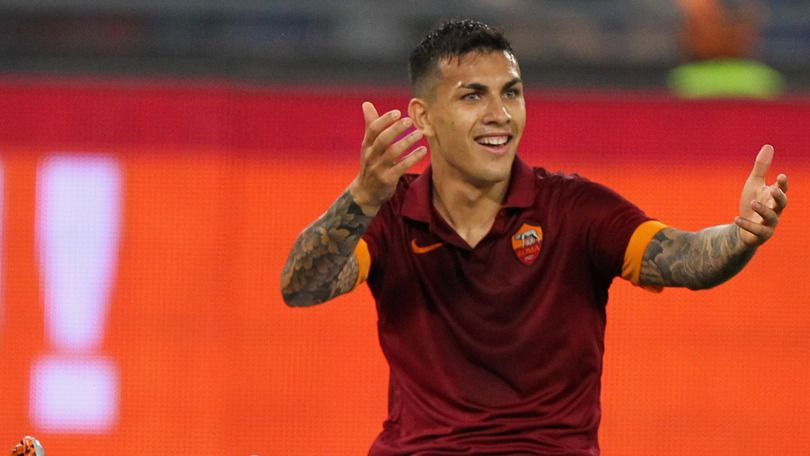 ROME, ITALY - MAY 31: Leandro Paredes of AS Roma reacts during the Serie A match between AS Roma and US Citta di Palermo at Stadio Olimpico on May 31, 2015 in Rome, Italy.  (Photo by Paolo Bruno/Getty Images)