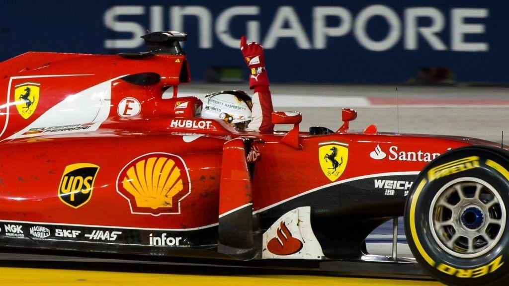 La gioia di Vettel, dopo il trionfo dello scorso anno. Saprà ripetersi? (foto da: gpmalaysia.com)