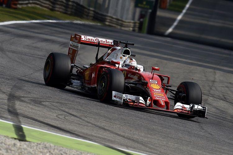 Sebastian Vettel riporta sul podio la Ferrari dopo 4 gare d'astinenza (foto da: thecheckeredflag.co.uk)