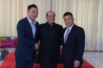 Yonghong Li, Silvio Berlusconi e Han Li (Fonte: quotidiano.net)