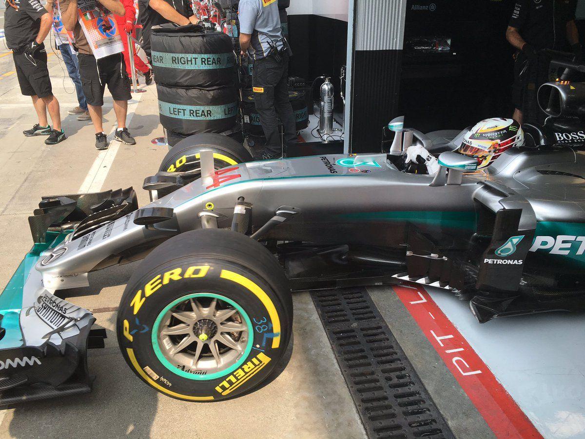 Dopo aver fatto segnare il miglior tempo nella FP2, Hamilton si conferma alla grande anche nella FP3 (foto da: f1journaal.be)