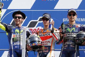 Il podio del GP di San Marino e della Riviera di Rimini (foto da: munod.lavoz.com.ar)