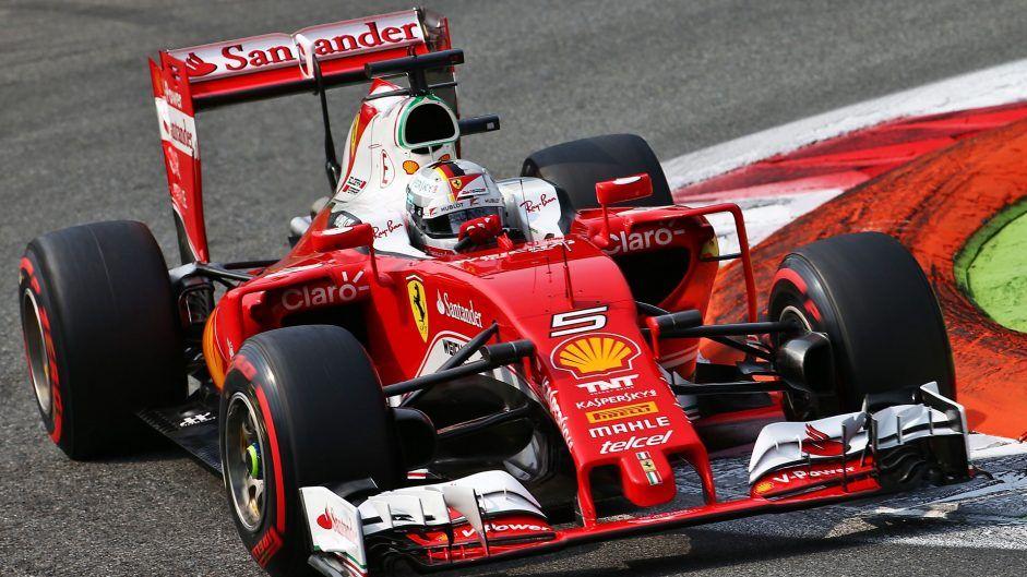 Terzo e quarto crono per le Ferrari di Vettel (in foto) e Raikkonen, che domani occuperanno interamente la seconda fila dello schieramento (foto da: f1fanatic.co.uk)