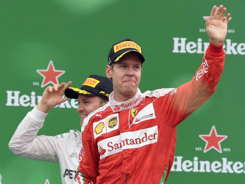 Buon 3° posto per Sebastian Vettel, che torna sul podio nella gara di casa della Ferrari (foto da: neue-woche.com)