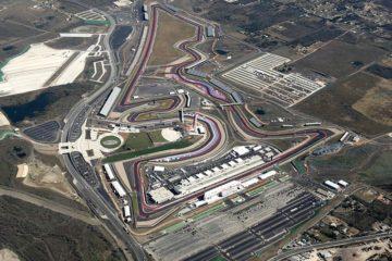 Suggestiva vista dall'alto del circuito di Austin (foto da: seatingchartview.com)