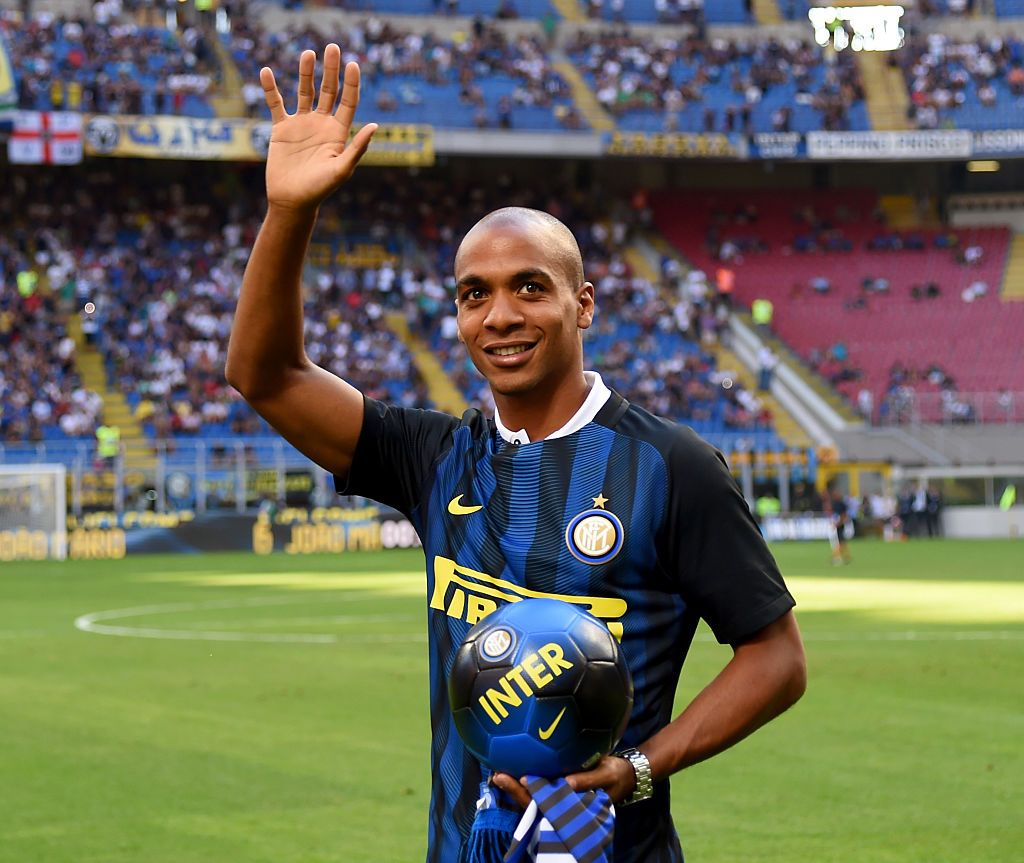 MILAN, ITALY - AUGUST 28:  Joao Mario of FC Internazionale prior to the Serie A match between FC Internazionale and US Citta di Palermo at Stadio Giuseppe Meazza on August 28, 2016 in Milan, Italy.  (Photo by Claudio Villa - Inter/Inter via Getty Images)