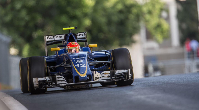 Felipe Nasr, al volante della Sauber durante il GP d'Europa (foto da: cyrkf1.pl)