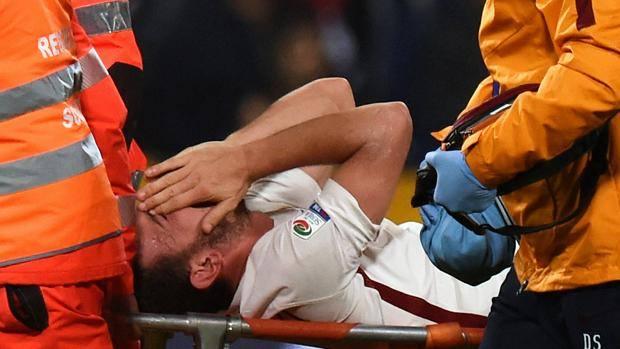 Alessandro Florenzi dopo il brutto infortunio di ieri sera