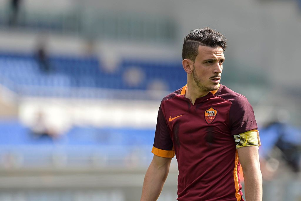 ROME, ITALY - APRIL 03:  ALessandro Florenzi of AS Roma looks on during the Serie A match between SS Lazio and AS Roma at Stadio Olimpico on April 3, 2016 in Rome, Italy.  (Photo by Luciano Rossi/AS Roma via Getty Images)