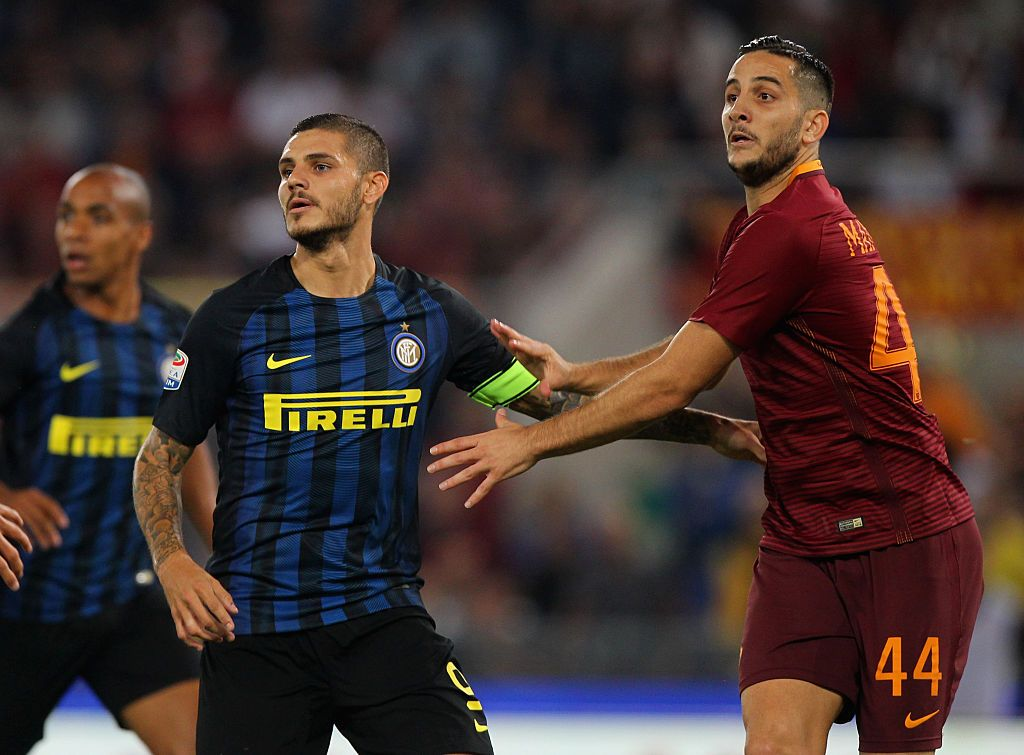 during the Serie A match between AS Roma and FC Internazionale at Stadio Olimpico on October 2, 2016 in Rome, Italy.