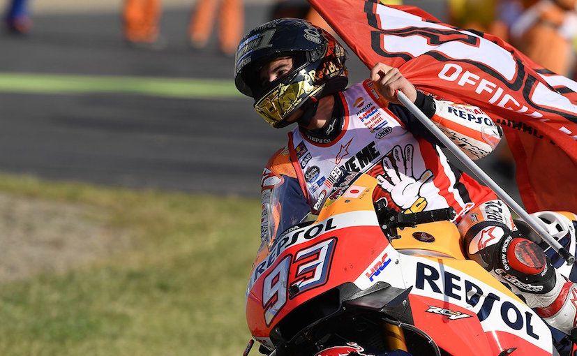 A soli 23 anni, Marc Marquez è diventato Campione del Mondo per la quinta volta (foto da: auto.ndtv.com)