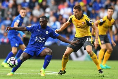 during the Premier League match between Leicester City and Arsenal at The King Power Stadium on August 20, 2016 in Leicester, England.